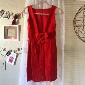 Donna Morgan Vintage Red Bow Dress